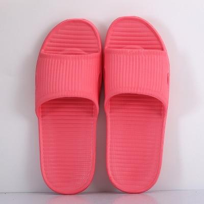 Парные комнатные тапочки eva; домашние сандалии и шлепанцы для отеля; женские летние нескользящие домашние тапочки для ванной; мужские домашние тапочки; - Цвет: watermelon red