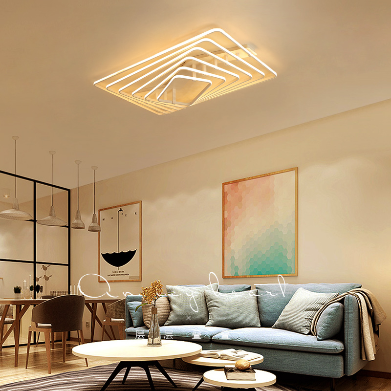 New Rectangle Acrylic Aluminum Modern Led ceiling lights for living room bedroom AC85-265V White Ceiling Lamp FixturesNew Rectangle Acrylic Aluminum Modern Led ceiling lights for living room bedroom AC85-265V White Ceiling Lamp Fixtures