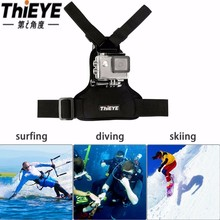 ThiEYE Adjustable Sports Action Camera Chest Strap DV Mount Band Belt Fix Accessories Support Tripod For go pro for SJ4000