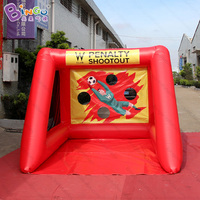 Free delivery 2.5X3.5X2m Inflatable soccer goal for shooting game blow up football goal for kids outdoor toys sport carnival