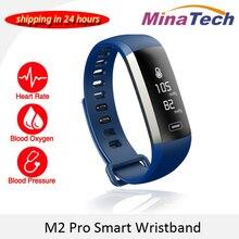 M2 Pro R5MAX De Fitness Inteligente Reloj Pulsera inteligente 50 palabra de visualización de Información heart rate monitor de presión arterial de oxígeno En La Sangre