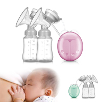 Double Baby Electric Breast Pump Milk Extractor Electric Aspirator with Milk Bottle USB Massage Milking Machine Nipple Suction