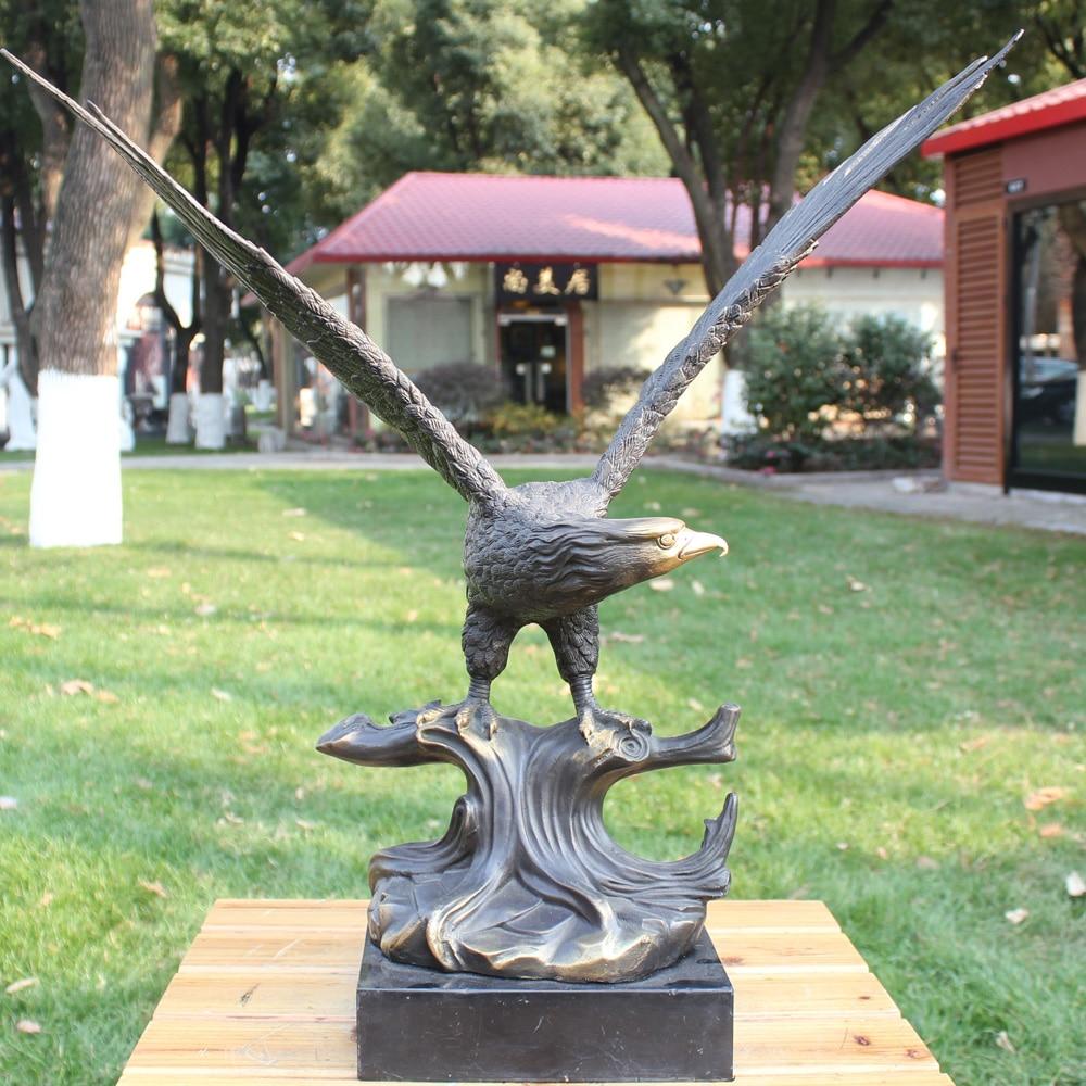 Ceppo di aquila aquila ali di bronzo artigianato di plastica ornamenti uccello uccello animali Arredamento Per La Casa ufficio Astratta degli animali regali aziendali