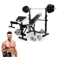 Фитнесс разновесы Bench Фитнес машины для дома сидеть брюшной Multi тренажерный зал гантели тренировки штанги Тренажерное Оборудование