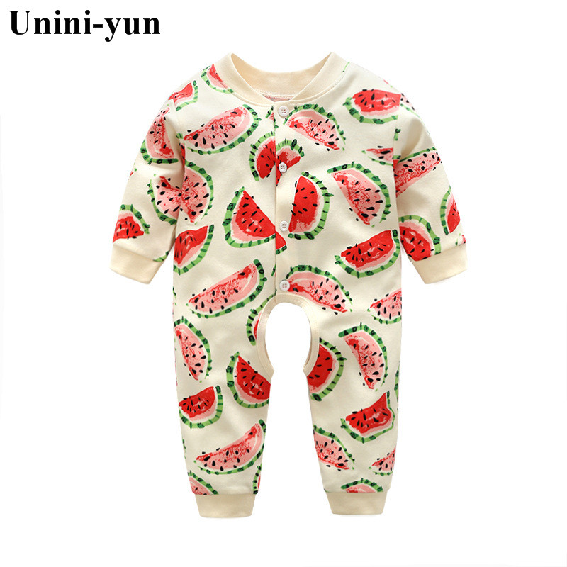 Spring Autumn Baby Rompers Cute Cartoon watermelon Infant Girl Boy Jumpers Kids Baby Outfits Clothes bebes baby girls clothes spring autumn baby cotton knit rompers baby girl long sleeve knitted overalls infant girl floral embriodery bebes infant clothes
