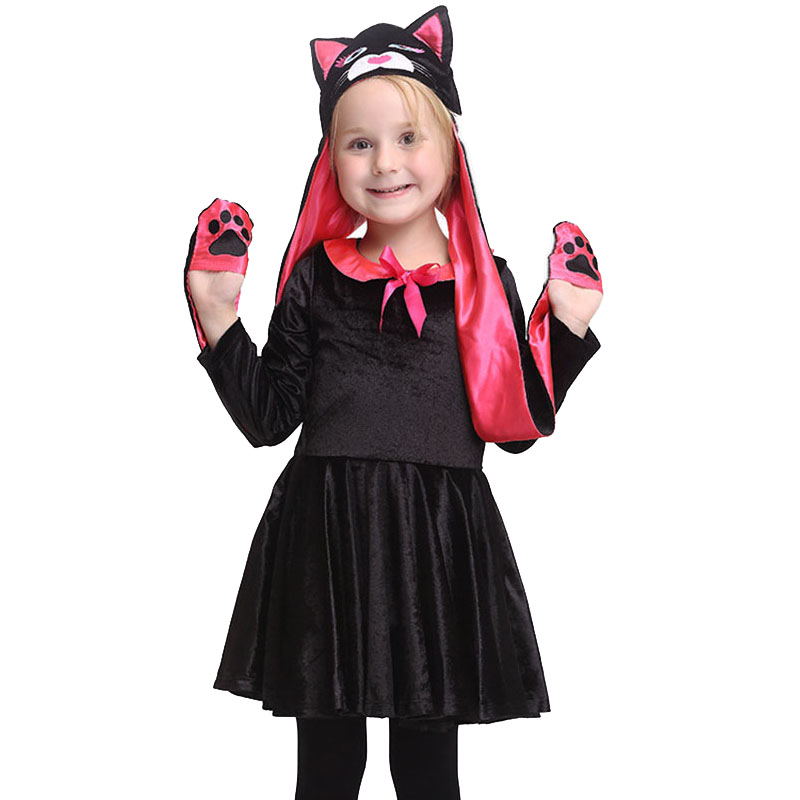 Halloween Playful Girl Costume Kids Cat (Hat+Dress) Cute Gold Velvet Costumes Cartoon Dress Carnival Party Cosplay High Quality -in Girls Costumes from ...  sc 1 st  AliExpress.com & Halloween Playful Girl Costume Kids Cat (Hat+Dress) Cute Gold Velvet ...