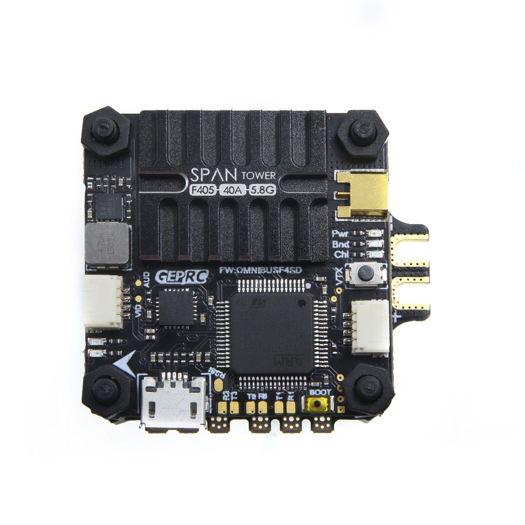 GEPRC do ustawiania zakresu pomiarowego F4 wieża F405 sterowania lotem Betaflight zintegrowany 5.8G 48CH VTX + BLHeli_S/Dshot600 40A ESC 4in1 dla dronów wyścigowych FPV w Części i akcesoria od Zabawki i hobby na  Grupa 3