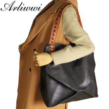 Arliwwi New Fashion Bags 100% Genuine Leather Handbags Large