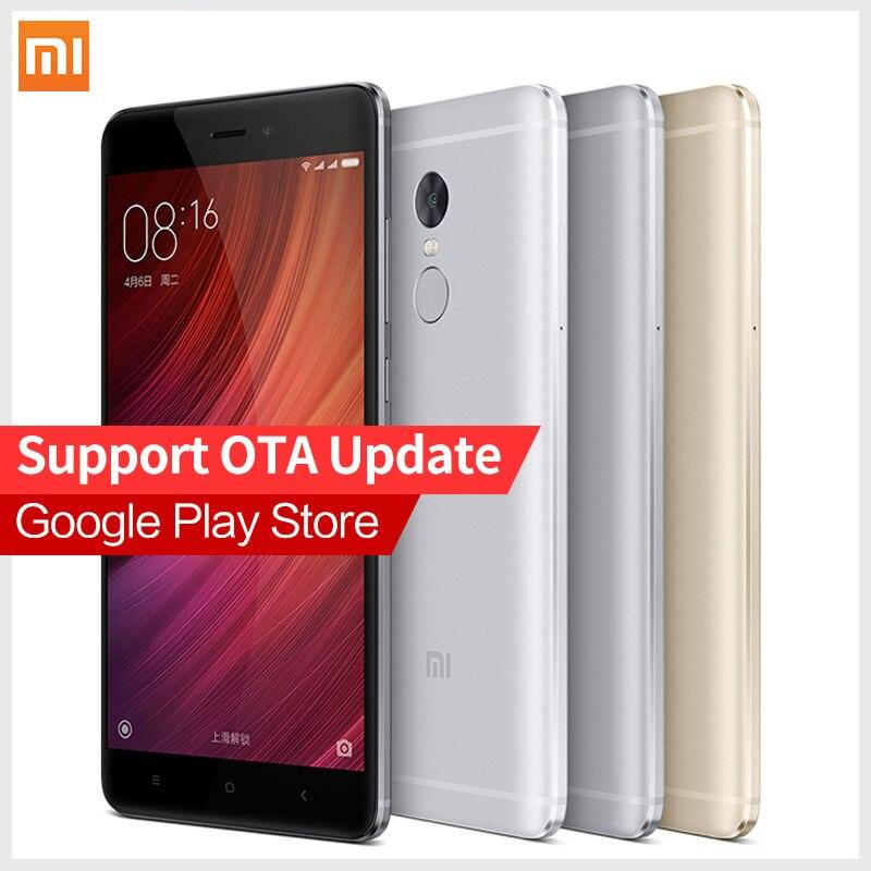 """Original Xiaomi Redmi Note 4 Pro Prime cellphone MTK Helio X20 Deca Core 5.5"""" FHD 3GB RAM 64GB ROM Mi Note4 MIUI8 Fingerprint ID"""