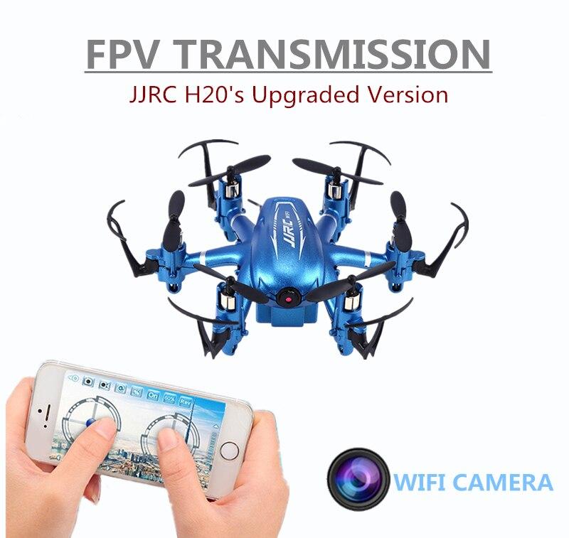 Мини Wi-Fi FPV-системы дроны 6 оси RC Дрон jjrc H20W quadcopters с 2MP HD Камера летящего вертолета Радиоуправляемые игрушки Nano вертолеты