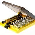 Precisão 45 em 1 chave de fenda conjunto de ferramentas de reparo de ferragem de elétrons conjunto de ferramentas intercambiáveis