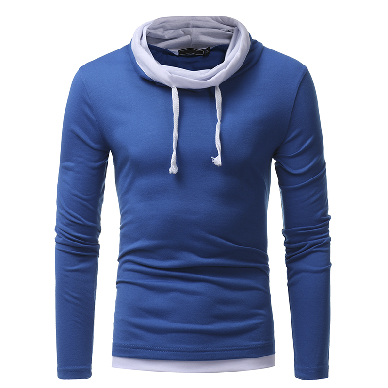 2018 Men T-Shirt Autumn New Long Sleeve O-Neck T Shirt Men Brand Clothing Fashion Button placket Patchwork Cotton Tees Tops 3XL