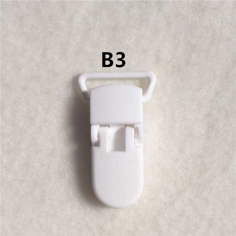20 цветов) DHL 200 шт. 20 мм КАМ Пластик маленьких Соски NUK MAM пустышка Chain Зажимы чулок Зажимы - Цвет: B3