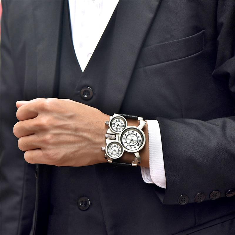 Ρολόγια για άνδρες Oulm Κορυφαία μάρκα - Ανδρικά ρολόγια - Φωτογραφία 2