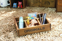 1PC Multifunctional Organizer Wooden Storage Box Holder Vintage Rustic Antique Jelelry JL 0902