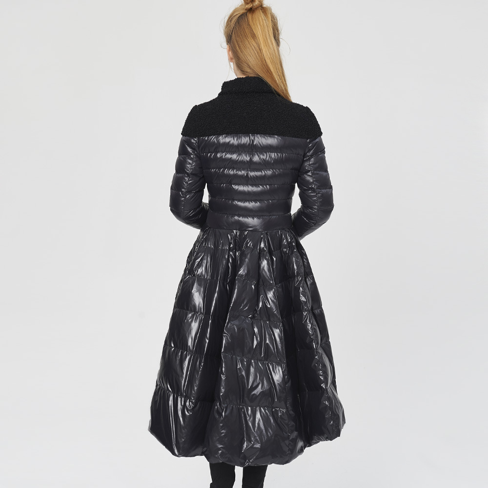 Bas Canard Black Femmes Jupe Blanc white Luxe D'aronde D'hiver 90 De Parkas Nouveau camouflage Le Duvet 2018 Ourlet Vers Manteau Queue France Doudoune Longue Femelle Survêtement 7gRHx8