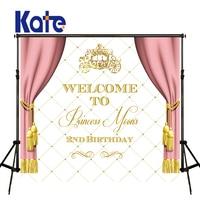 KATE Photo Background Birthday Custom Photography Backdrop Pink Curtain Background Photography Children Birthday Photos