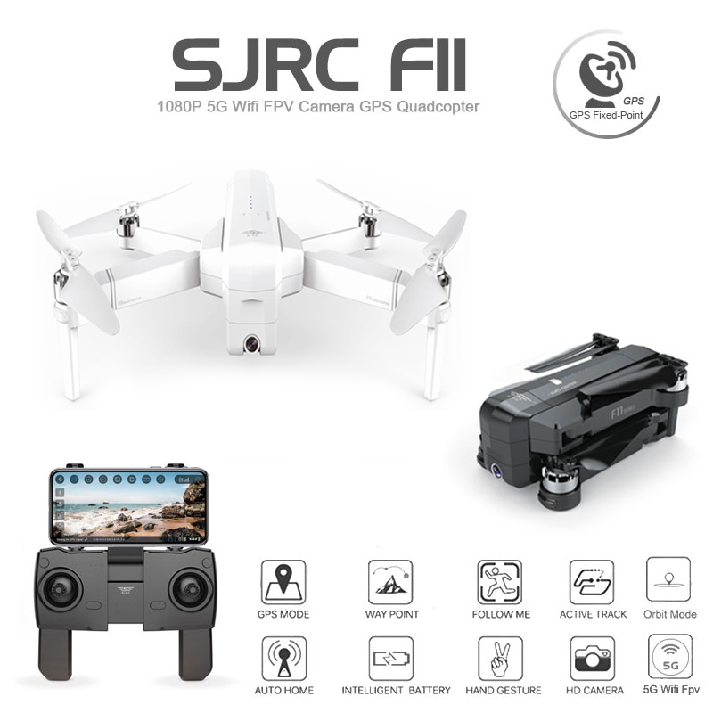 SJRC F11 GPS Drone With Wifi FPV 1080P Camera Brushless Quadcopter 25mins Flight Time Gesture Control Foldable Dron Vs CG033 Z5-in RC Helicopters from Toys & Hobbies