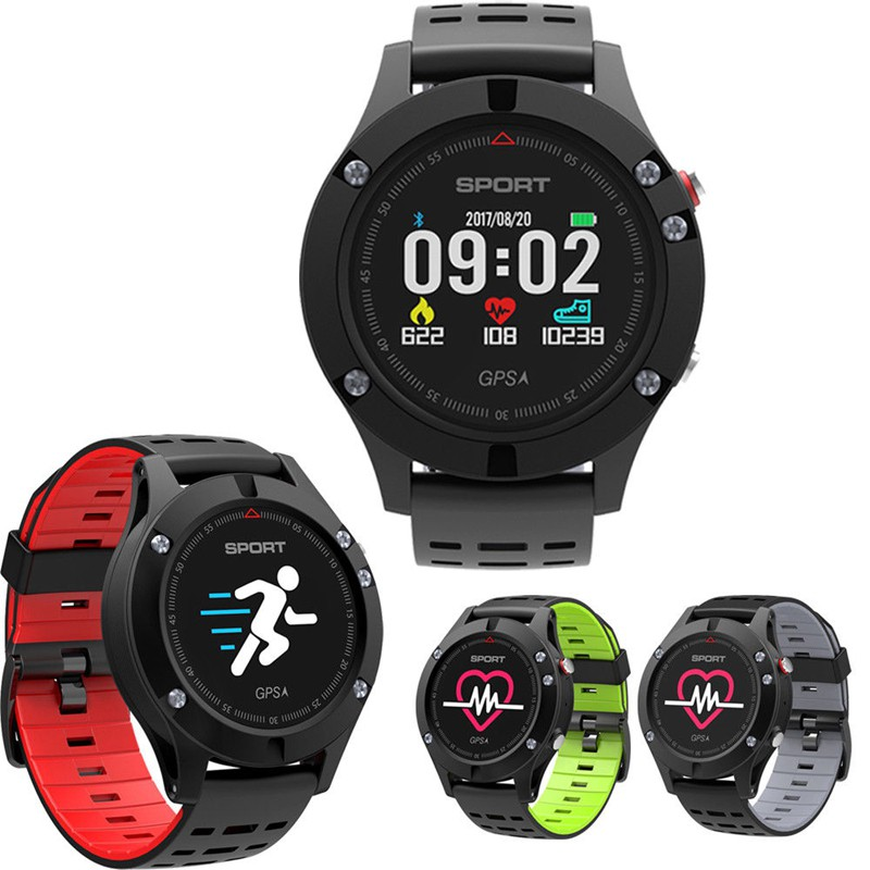 2018 Sports Smart Watch F5 GPS Heart Rate Monitor IP67 Waterproof Wrist Smartwatch Band Bluetooth Fitness Tracker Android iOS colmi v11 smart watch ip67 waterproof tempered glass activity fitness tracker heart rate monitor brim men women smartwatch