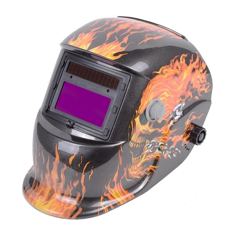 Auto Darkening Welding Mask Big Screen Welder Tool Arc Sensor TIG MIG MMA MAG Electric Welder Equipment Cap Helmet flame skeleton auto darkening welding helmet for arc mag mig tig electric welder mask automatic darkening chrome brushed new