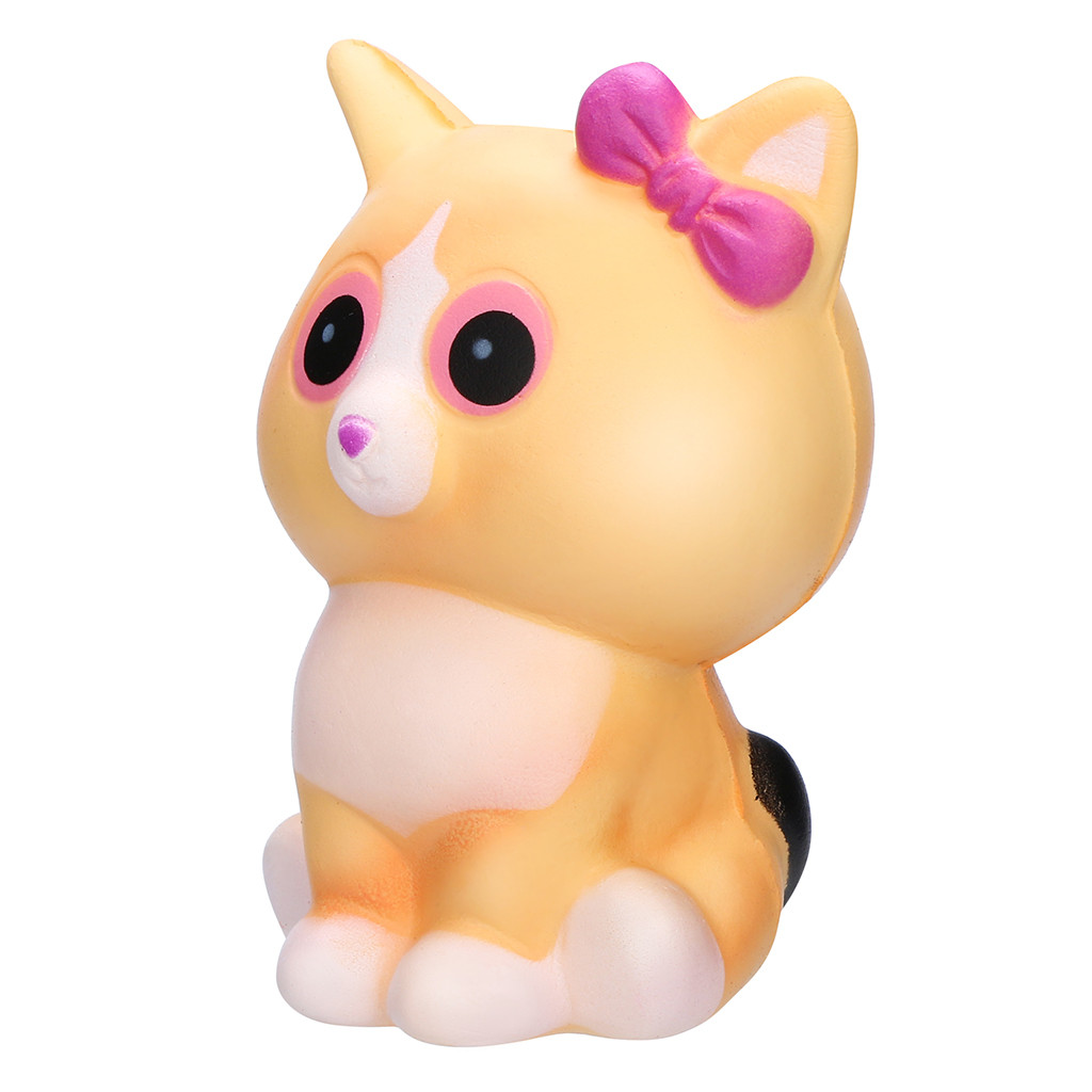 Squishy Kawaii White Cat Cream Scented Charms, Lovely Toy For Stress Stress Relief Toy Antistress Squishy Toys For Children W611