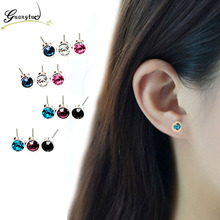Cute Little Simple Crystal Stud Earrings For Men Women Wedding & Engagement Jewelry Oorbellen Brincos Piercing Earring Bijoux