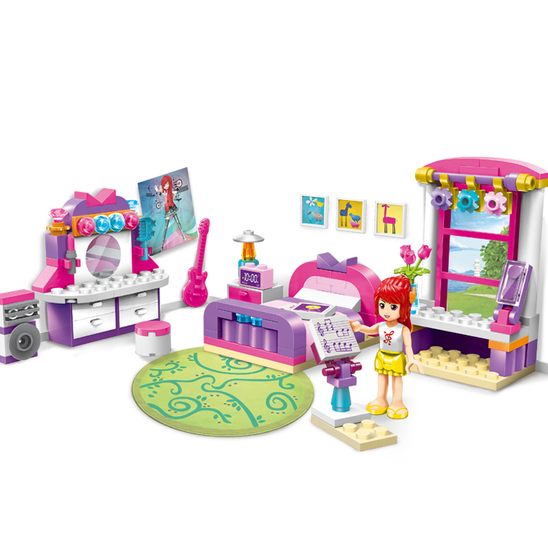 Compatible Legoedly Amis Série de Cerise Chambre Action Building Blocks Modèle Ensemble 124 pcs Brique Jouets Pour Filles Cadeaux De Noël