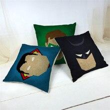 45 *45cm Cartoon Super Hero Batman Cotton Linen Cheap Cushion Cover Sofa Decorative Throw Pillow Car Chair Home Case