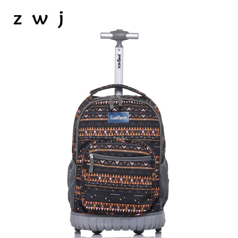 Bohemian Lightweight Wheeled Trolley Backpack Straps Cabin Bag Travel Luggage Backpack with Wheels Rolling Backpack Bohemian Lightweight Wheeled Trolley Backpack Straps Cabin Bag Travel Luggage Backpack with Wheels Rolling Backpack