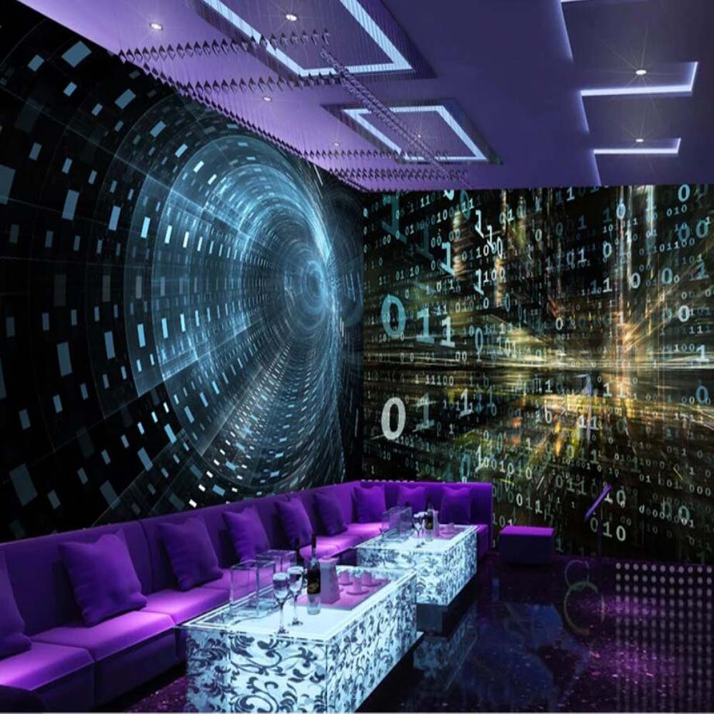 3d Abstract Tijd Tunnel Bar Behang Mural Print Photo Wall Paper Voor Ktv Winkel Muur Decor Muurschilderingen Custom Size Genezen Van Hoest En Het Verlichten Van Slijm En Verlichten Heesheid
