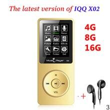 Мини mp3 плеер 16 ГБ с Встроенный динамик USB MP3 плеера с Динамик MP-3 MP3-Player iqq x02 MP 4 16 ГБ проигрывателя Walkman FM