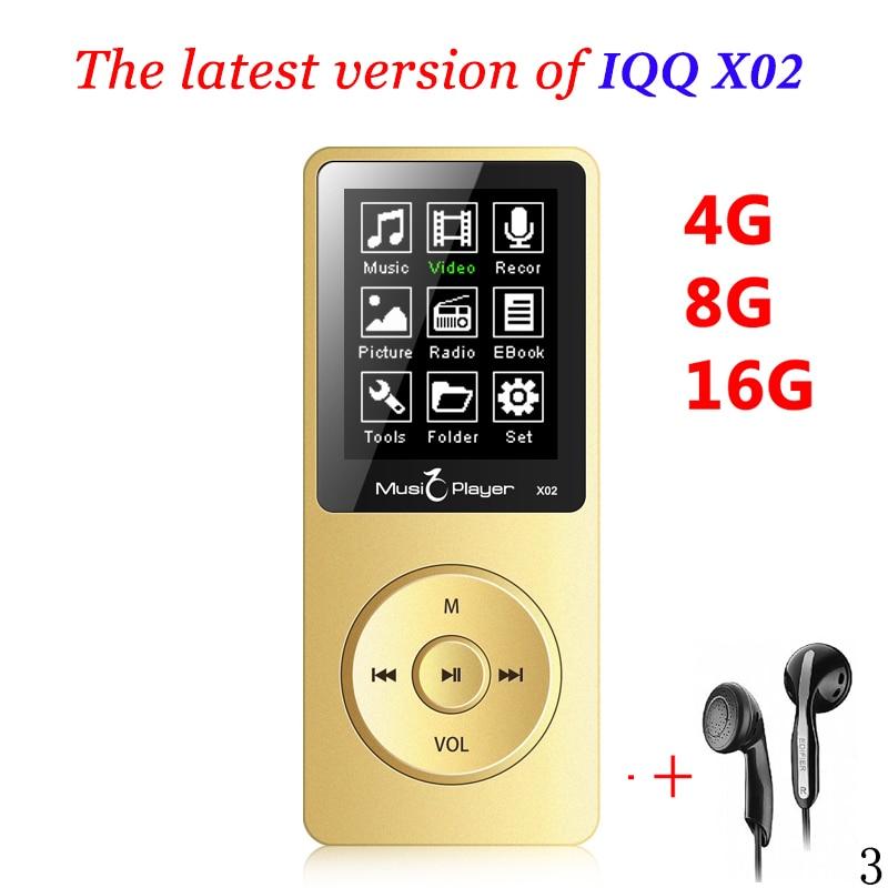 Mini <font><b>MP3</b></font> player 16GB With Built-in Speaker USB <font><b>MP3</b></font> Music Player with speaker mp-3 <font><b>mp3</b></font>-player IQQ X02 mp 4 16GB player walkman fm