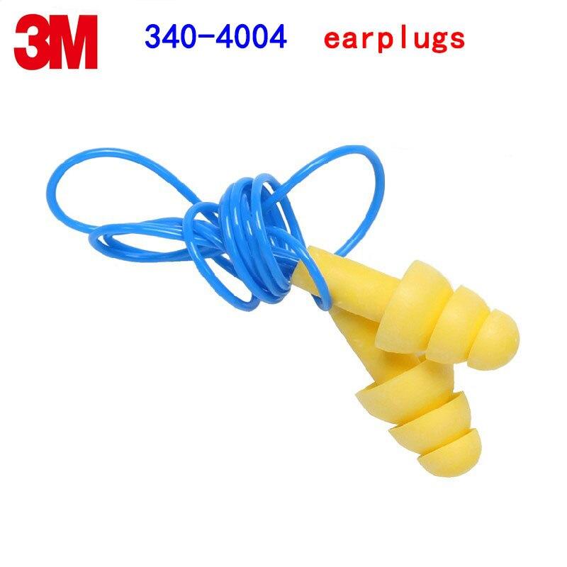 3 M 340-4004 tapones para los oídos del ruido Navidad árbol forma tapones amarillo con líneas aprender sueño trabajos tapones