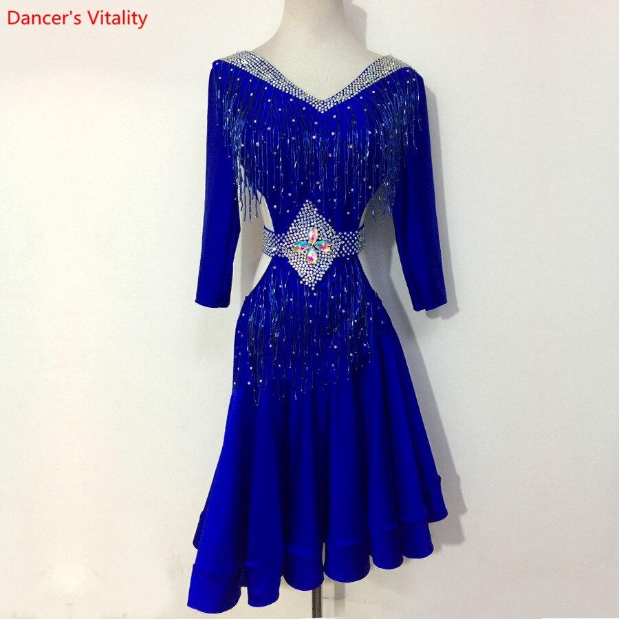 Women Latin Dance Dress Diamond Women Ballroom Dancing Dresses Latin Dance Costume Dance Latin Dresses Tango Dress Samba Dresss