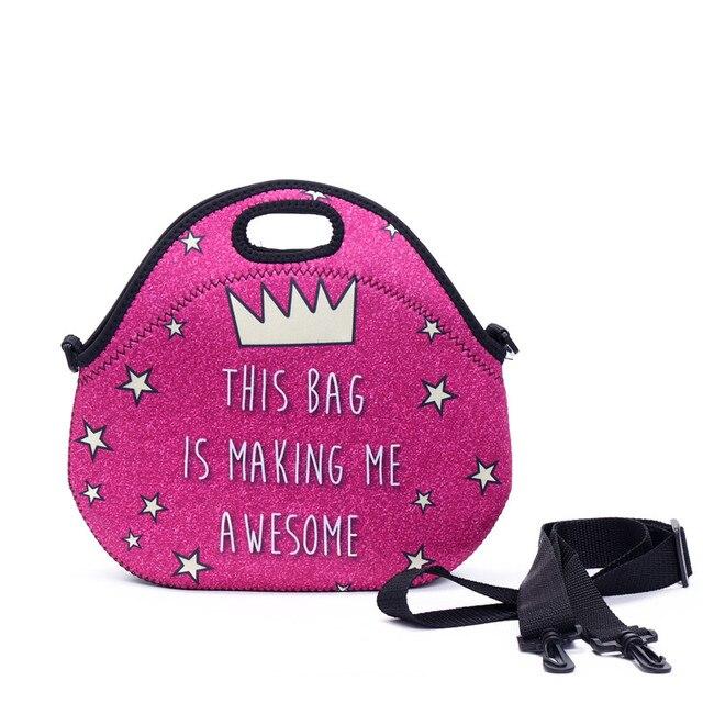 Soopream Térmica Duplas 3d impressão piquenique Sacos saco de Almoço para mulheres Crianças Saco Térmico Caixa De Comida do Almoço Sacos de Piquenique Tote bolsas