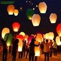 10 PCS Lanterna Chinesa Lanterna do Céu Lanternas Desejo Voando Lanternas Multicolor Balão do Aniversário de Casamento da Lanterna de Papel Decoração Do Partido