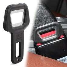 1 PCS רכב בטיחות חגורת אבזם קליפ בקבוק פותחן עבור פיאט 500 600 טיפו פונטו stilo Freemont צלב Coroma פנדה רעיון Palio