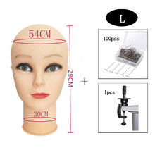 OLD STREET Cosmetology Bald Manikin Mannequin Head for Wigs Making Wig Display Hat Glasses With clamp+T-pins