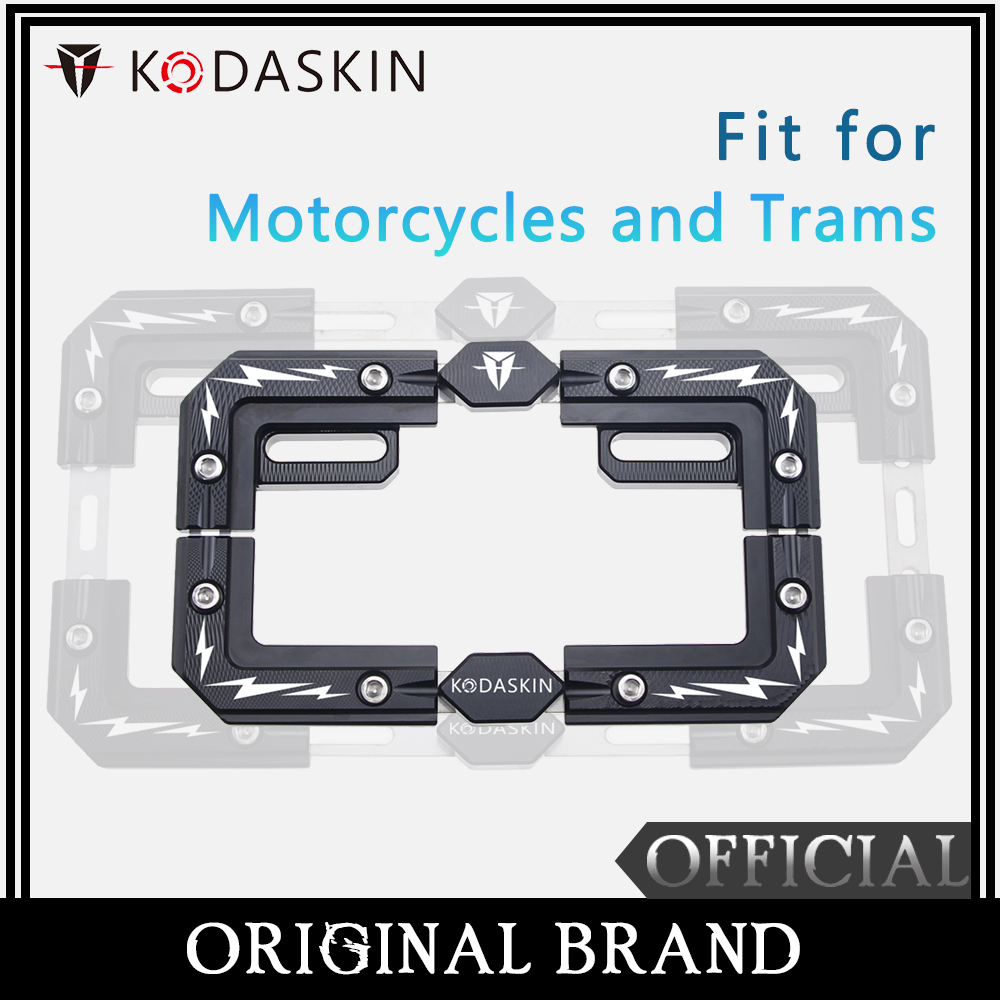 KODASKIN Aluminum Alloy License Plate Frame Fit for Motorcycles and Trams HONDA NC750X DL650 DL1000 NINJA400 KAWASAKI F800KODASKIN Aluminum Alloy License Plate Frame Fit for Motorcycles and Trams HONDA NC750X DL650 DL1000 NINJA400 KAWASAKI F800