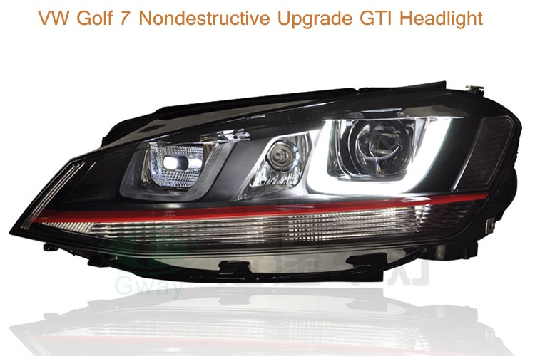 VW Golf 7 nondestructive upgrade GTI headlights
