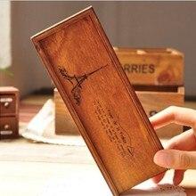1 unids/lote nuevo estuche de madera para lápices de estilo de París vintage estuche para lápices estuche de almacenamiento estuche para bolígrafos regalo papelería