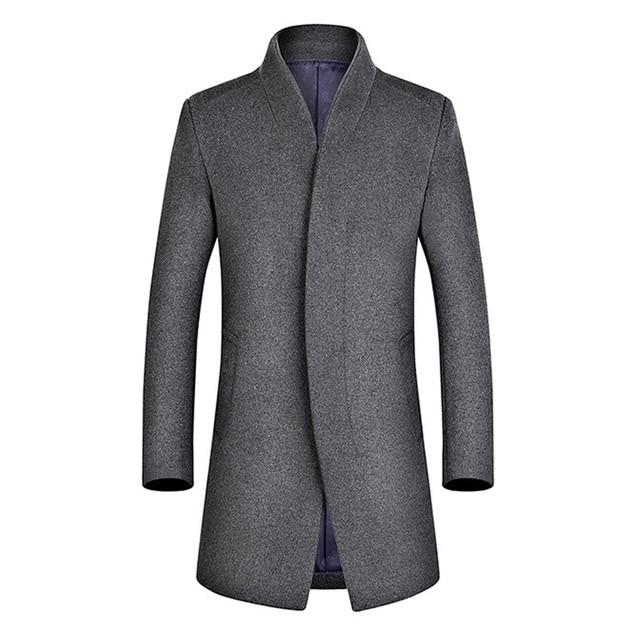 Aliexpress.com : Buy Men Wool Coat Slim Fit Men Middle Long Coats ...