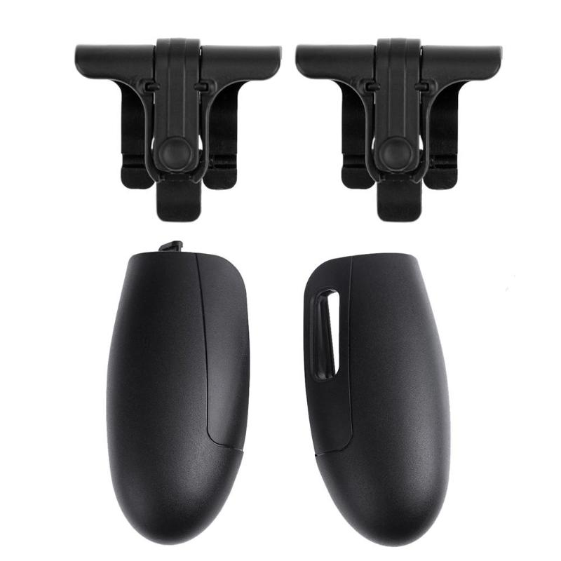 1 Pair Phone Black Joysticks Shooting Tools Game Control for STG FPS TPS +K1 Game Grip Extended Handle Game Controller Gamepad