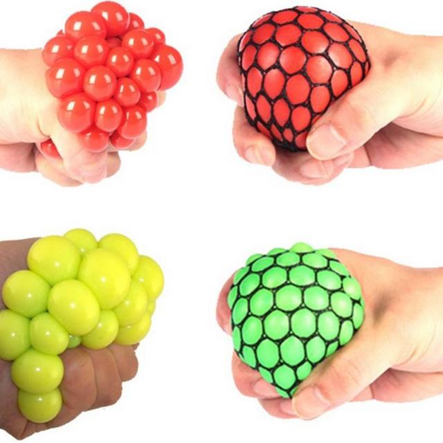 Anti Stress Ball Fun Splat Grape Squeeze Stresses Reliever