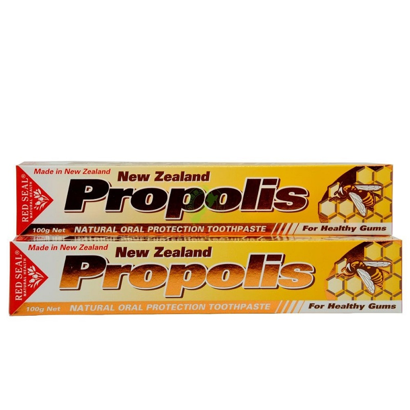 100%NewZealand New Propolis Toothpaste 2PCS Antiseptic Protect Mouth Gums from Ulcers Infection Reduce Cavities Gingivitis Decay image
