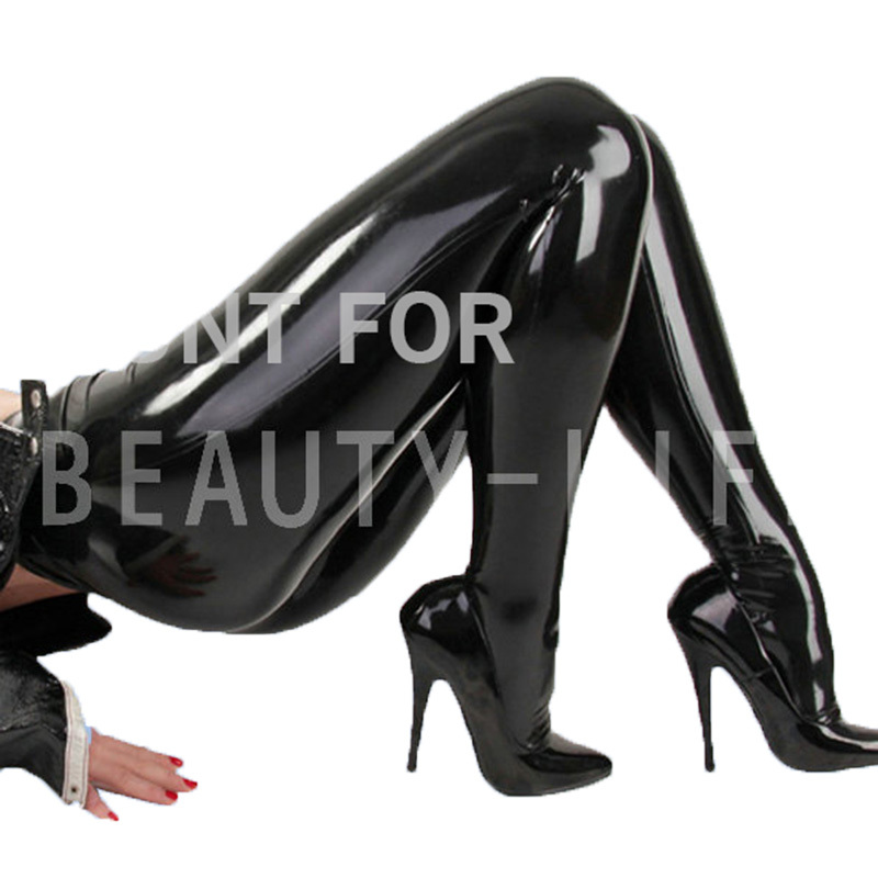 Latex Trousers Exotic Pants For Women Foot Covered Fetish -1374