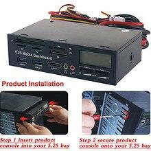 PYMH Da 5.25 Pollici USB 3.0 PC del Pannello Frontale Media Dashboard HUB Lettore di Schede SATA PCIE PCE E