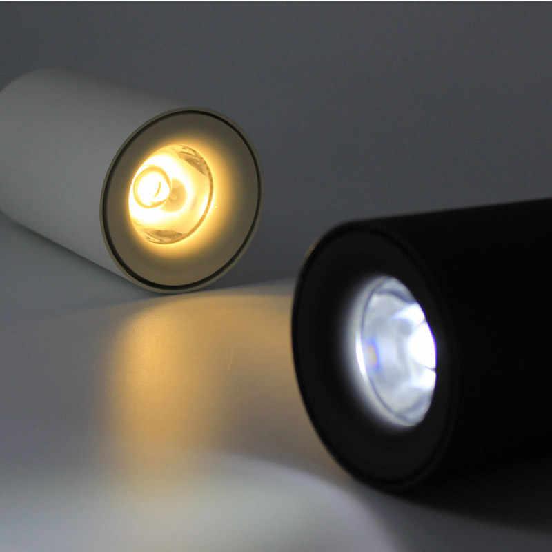 Aisilan Nordic LED Downlight Permukaan Dipasang Lampu Langit-langit AC85-260V Putih/Hitam Lampu untuk Ruang Tamu Kamar Tidur Lorong