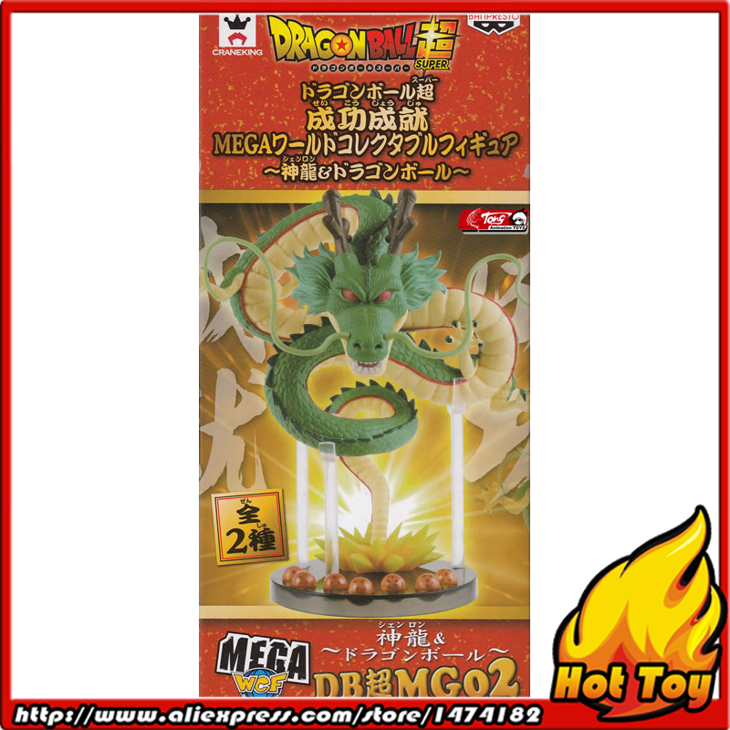 100% Original BANPRESTO MEGA WCF Collection Figure - Shenron (with 7 pieces of dragon balls) from Dragon Ball Super original banpresto world collectable figure wcf the historical characters vol 3 full set of 6 pieces from dragon ball z