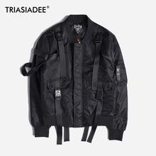TRIASIADEE Men's Military Jacket MA1 Bomber Jacket For Men